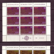 Sellos: YUGOSLAVIA 1663/64 HB*** - AÑO 1979 - EUROPA - HISTORIA DEL SERVICIO POSTAL. Lote 21222890