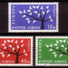 Sellos: CHIPRE 207/09*** - AÑO 1962 - EUROPA. Lote 22110307