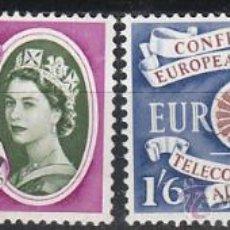 Sellos: INGLATERRA, IVERT 357/8, EUROPA 1960, NUEVO. Lote 24315371