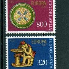 Sellos: SERIE COMPLETA YUGOSLAVIA AÑO 1976 YVERT NR.1524/25 EUROPA CEPT NUEVA. Lote 25364452