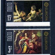 Sellos: SERIE COMPLETA MALTA AÑO 1975 YVERT NR.507/8 EUROPA CEPT NUEVA. Lote 25364807