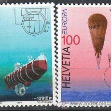 Sellos: SUIZA, IVERT 1453/4, EUROPA 1994, NUEVO (SERIE COMPLETA). Lote 25582678