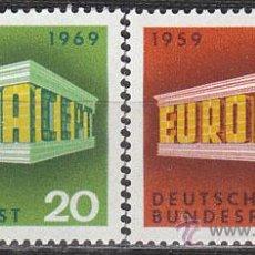 Sellos: ALEMANIA IVERT 446/7, EUROPA 1969, NUEVO (SERIE COMPLETA). Lote 25931125
