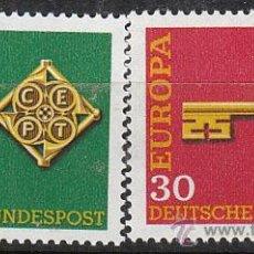 Sellos: ALEMANIA IVERT 423/4, EUROPA 1968, NUEVO (SERIE COMPLETA). Lote 26509765