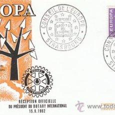 Sellos: FRANCIA IVERT 1358, EUROPA 1962, CONSEJO DE EUROPA, DERECHOS DEL HOMBRE, PRIMER DIA DE 15-9-1962. Lote 27175212