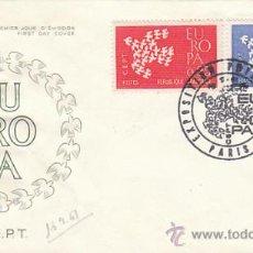 Sellos: FRANCIA IVERT 1309/10, EUROPA 1961, PRIMER DIA DE 10-9-1961. Lote 27175309