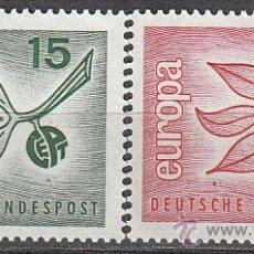 Sellos: ALEMANIA IVERT 350/1, EUROPA 1965, NUEVO (SERIE COMPLETA). Lote 27798782