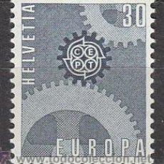 Sellos: SUIZA IVERT 783, EUROPA 1967, NUEVO (SERIE COMPLETA). Lote 27869945