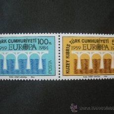 Sellos: CHIPRE TURCO 1984 IVERT 127/8 *** EUROPA. Lote 28420519