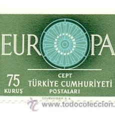 Sellos: 2TURK-1562N. SELLO NUEVO TURKIA. YVERT Nº 1562. AÑO 1960. EUROPA. Lote 28649368