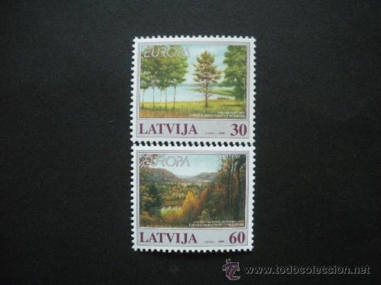 LETONIA 1999 IVERT 464/5 *** EUROPA - PARQUES NATURALES (Sellos - Temáticas - Europa Cept)