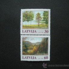 Sellos: LETONIA 1999 IVERT 464/5 *** EUROPA - PARQUES NATURALES. Lote 29543664