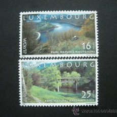Sellos: LUXEMBURGO 1999 IVERT 1422/3 *** EUROPA - PARQUES NATURALES. Lote 29543686