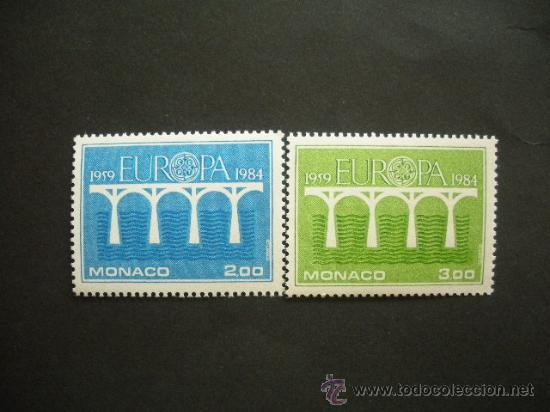 MONACO 1984 IVERT 1418/9 *** EUROPA - 25 ANIVERSARIO CONFERENCIA EUROPEA (Sellos - Temáticas - Europa Cept)