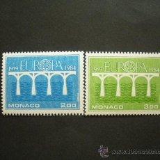 Sellos: MONACO 1984 IVERT 1418/9 *** EUROPA - 25 ANIVERSARIO CONFERENCIA EUROPEA . Lote 29801714