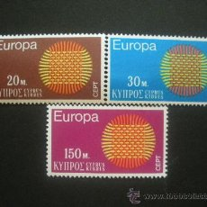Sellos: CHIPRE 1970 IVERT 324/6 *** EUROPA . Lote 29919517
