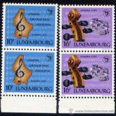 Sellos: SELLO DE LUXEMBURGO -1985 AÑO EUROPEO DE LA MUSICA (NUEVO - SIN CHARNELA) BLOQUE DE 2. Lote 30466426