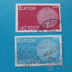 Stamps - 1970 francia, europa, yvert 1637/8 - 30682106
