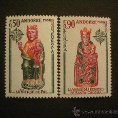Sellos: ANDORRA FRANCESA 1974 IVERT 237/8 *** EUROPA - ESCULTURAS. Lote 30935609