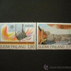 Sellos: FINLANDIA 1983 IVERT 890/1 *** EUROPA - GRANDES OBRAS DE LA HUMANIDAD. Lote 33593164