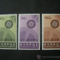Sellos: CHIPRE 1967 IVERT 284/6 *** EUROPA. Lote 33658821