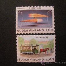 Sellos: FINLANDIA 1988 IVERT 1015/6 *** EUROPA - TRANSPORTE Y COMUNICACIÓN . Lote 34003534