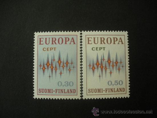 FINLANDIA 1971 IVERT 665/6 *** EUROPA (Sellos - Temáticas - Europa Cept)