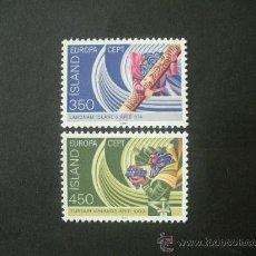 Sellos: ISLANDIA 1982 IVERT 531/2 *** EUROPA - HECHOS HISTÓRICOS. Lote 34040769