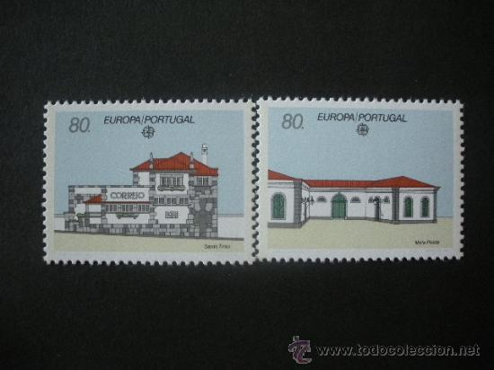 PORTUGAL 1990 IVERT 1800/1 *** EUROPA - EDICICIOS DE CORREOS - ARQUITECTURA (Sellos - Temáticas - Europa Cept)