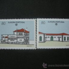 Sellos: PORTUGAL 1990 IVERT 1800/1 *** EUROPA - EDICICIOS DE CORREOS - ARQUITECTURA. Lote 34084102