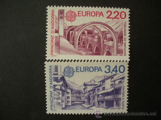 ANDORRA FRANCESA 1987 IVERT 358/9 *** EUROPA - ARQUITECTURA MODERNA - MONUMENTOS (Sellos - Temáticas - Europa Cept)