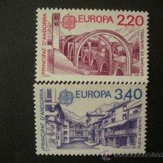 Sellos: ANDORRA FRANCESA 1987 IVERT 358/9 *** EUROPA - ARQUITECTURA MODERNA - MONUMENTOS . Lote 34476897