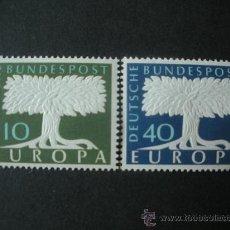 Sellos: ALEMANIA FEDERAL 1957 IVERT 140/1 *** EUROPA. Lote 34930227