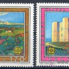 Sellos: ITALIA AÑO 1977 YV 1299/00*** EUROPA CEPT - VISTAS Y PAISAJES - TURISMO - CASTILLOS - MONTAÑAS. Lote 35019505