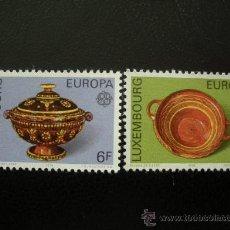 Sellos: LUXEMBURGO 1976 IVERT 878/9 *** EUROPA - OBRAS ARTESANALES - CERAMICA . Lote 35207624