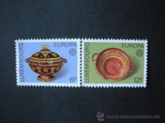 LUXEMBURGO 1976 IVERT 878/9 *** EUROPA - OBRAS ARTESANALES - CERAMICA (Sellos - Temáticas - Europa Cept)