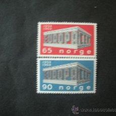 Sellos: NORUEGA 1969 IVERT 538/9 *** EUROPA - 10º ANIVERSARIO CONFERENCIA EUROPEA. Lote 35828957