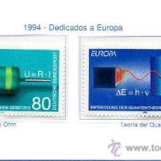 Sellos: ALEMANIA FEDERAL=YVERT Nº 1561/62=TEMA EUROPA=AÑO 1994=CATALOGO 2,75 €. Lote 35993206