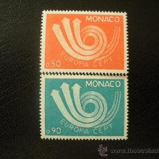 Sellos: MONACO 1973 IVERT 917/8 *** EUROPA . Lote 36182485