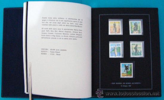 Sellos: ALBUM de sellos DE SAN MARINO TEMATICO, EUROPA CEPT año 1987 - Foto 13 - 36536977
