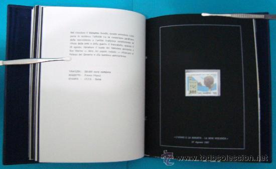 Sellos: ALBUM de sellos DE SAN MARINO TEMATICO, EUROPA CEPT año 1987 - Foto 21 - 36536977
