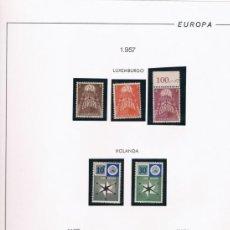 Sellos: TEMA EUROPA. COLECCIÓN DEL TEMA EUROPA AÑOS 1956 A 1962. Lote 37135567
