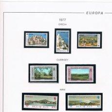 Sellos: COLECCIÓN DE SELLOS NUEVOS DEL TEMA EUROPA CEPT. AÑOS 1976/1983. Lote 37136138