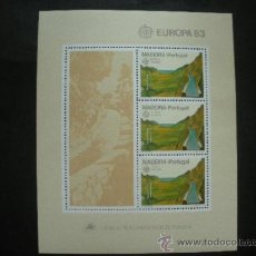 Sellos: MADEIRA 1983 HB IVERT 4 *** EUROPA - GRANDES OBRAS DE LA HUMANIDAD. Lote 37250675