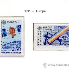 Sellos: ANDORRA FRANCESA=YVERT Nº 402/03=TEMA EUROPA=AÑO 1991=. Lote 37314009