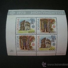Sellos: PORTUGAL 1978 HB IVERT 23 *** EUROPA - MONUMENTOS. Lote 37406369