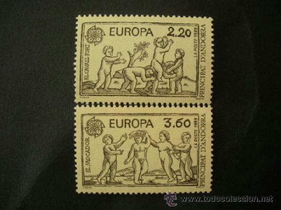 ANDORRA FRANCESA 1989 IVERT 378/9 *** EUROPA - JUEGOS INFANTILES (Sellos - Temáticas - Europa Cept)
