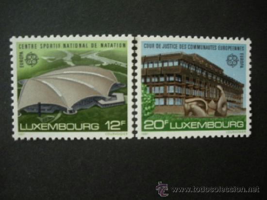 LUXEMBURGO 1987 IVERT 1124/5 *** EUROPA - ARQUITECTURA CONTEMPORANEA (Sellos - Temáticas - Europa Cept)