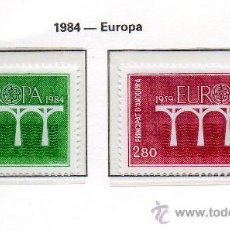 Sellos: ANDORRA FRANCESA=YVERT Nº 329/30=TEMA EUROPA=AÑO 1984=CATALOGO: 14 EUROS. Lote 37645711
