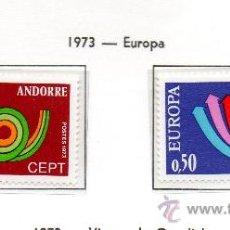 Sellos: ANDORRA FRANCESA=YVERT Nº 226/27=TEMA EUROPA=AÑO 1973=CATALOGO: 40 EUROS. Lote 37646049